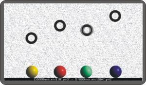 stereo test dinamico con anelli